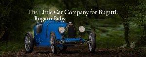 豪华汽车品牌 Bugatti(布加迪)推出最高时速60公里儿童电动车
